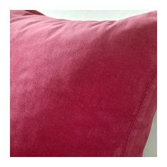 SANELA Cushion cover  - one more IKEA pillow cover! This one is a beautiful, raspberry-pink velvet. The color is much softer and richer in person than in the photo.