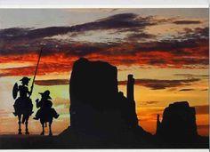 Don Quijote: Nos hemos perdido Sancho (collage)