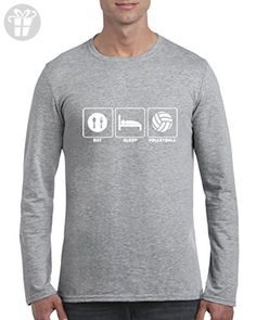 Blue Tees Eat Sleep Volleyball Repeat Fashion People Best Friend Gift Couples Gifts Long Sleeve Men T-Shirt Small Sport Grey (*Amazon Partner-Link)