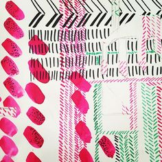 Inspirational scribbles in the good old sketch book! New ideas coming soon ..... #scarf #printdesign #printmaking #sketchbook #ink #inspiration #pen #illustration #drawing #art #silk #geometric #paint #design