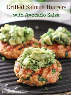 Grilled Salmon Burgers with Avocado Mash! Fresh, easy to ma.- Grilled Salmon Burgers with Avocado Mash! Fresh, easy to make and perfect for g… Grilled Salmon Burgers with Avocado Mash! Fresh, easy to make and perfect for grilling! Healthy Grilling, Grilling Recipes, Cooking Recipes, Healthy Recipes, Keto Recipes, Cooking Games, Healthy Meals, Cooking Tips, Salmon Recipes