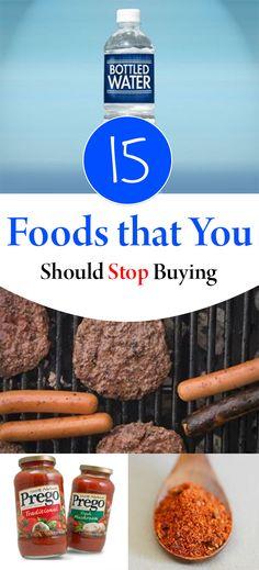 Foods to stop buying, money saving tricks, popular pin, money saving tips, frugal living, grocery shopping hacks.