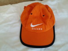 RARE official Nike Hat cap Bright Orange Soccer snapback #Nike #BaseballCap