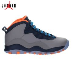 797954dc7bb5 Air Jordan 10 Retro Wolf Grey Dark Powder Blue-New Slate-Atomic Orange