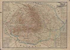 Map of Romania in 1930 Romania Map, Historical Maps, Vintage World Maps, Country, Rural Area
