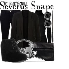 Severus Snape, created by lalakay on Polyvore