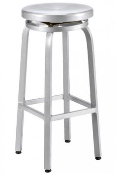 "Bar-height stool  30""H x 14.5""W x 14.5""D.   Floor-to-seat: 30""H.   Cast aluminum  We have 3 brand new (In box) and if you need a 4th we can tell you our source.  $75 each"