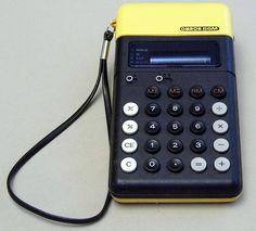 Vintage Omron Model 86M Handheld LED Electronic Calculator, Made in Japan, Circa 1974.