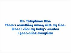 """Song Selected for Poem Page 1255.) New Edition """"Mr. Telephone Man""""…Chapter. 16D Astronomy New Edition-Mr. Telephone Man Lyrics (+playlist)"""