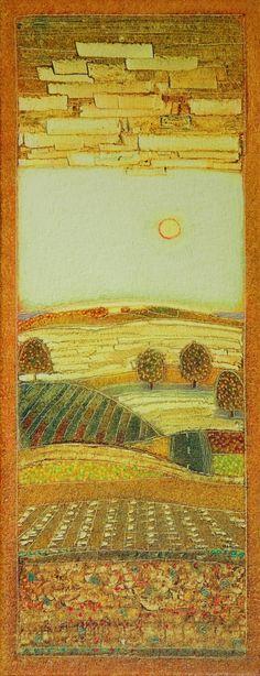 Rob van Hoek - 2013-043- The yellow haze of the sun- 50x20cm