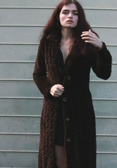 90s Grunge Oversized Fluffy Brown Nana Jacket by SiouxsieGerms