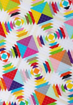 My Scrappy Pineapple Quilt is finished. This was a lot of work but I have loved every moment of the foundation paper piecing pr. Patchwork Quilt Patterns, Modern Quilt Patterns, Scrappy Quilts, Baby Quilts, Pineapple Quilt Pattern, Two Color Quilts, Rainbow Quilt, Contemporary Quilts, Antique Quilts