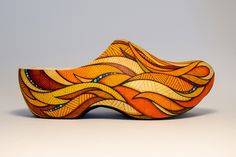 Hand-painted wooden clog for »De Klompen Show«, which was a public exhibition in Amsterdam featuring uniquely designed clogs by a wide array of different artists.Taking place ahead of Koningsdag 2017 (a Dutch national holiday to honor the King's birthda…