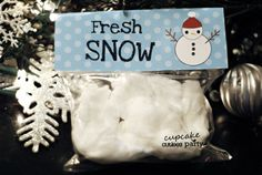 Melted Snowman- Fresh Snow -Digital Bag Toppers U PRINT Instant Download on Etsy, $4.00 AUD