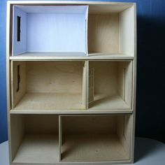 how to make a dollhouse out of shelves