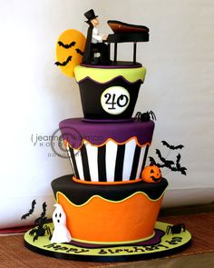 love the colours & design of this cake
