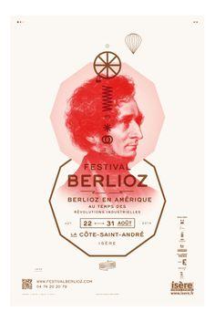 Festival Berlioz 2014, La Côte St André, Isère (Brest Brest Brest)  #Poster #design #illustration #fonts