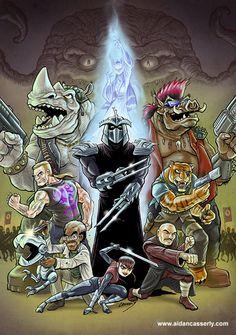 Ninja Turtles 2, Teenage Ninja Turtles, Tmnt Comics, Comics Toons, Shredder Tmnt, Bebop And Rocksteady, Superhero Cartoon, Turtle Love, Cool Cartoons