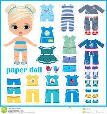 Resultado de imagen de boneco de papel troca de roupa