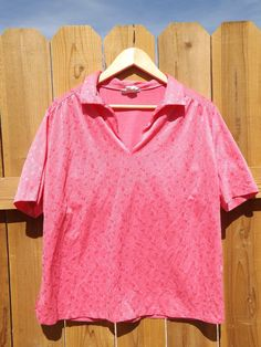 Pink Vintage Blouse  L 461 by MineAlways on Etsy