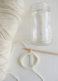 crocheted jar jackets