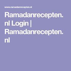 Ramadanrecepten.nl Login | Ramadanrecepten.nl