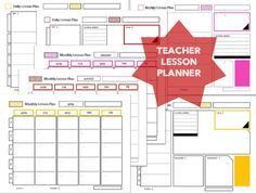 Teacher Lesson Planner ( three colors ) by MindtheGapShop on Etsy