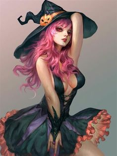 ArtStation - A witch, tong shuai Fantasy Witch, Witch Art, Dark Fantasy, Fantasy Art Women, Fantasy Girl, Fantasy Characters, Female Characters, Arte Assassins Creed, Chica Fantasy
