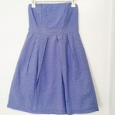 J.Crew Lorelei Strapless Dress w/ Pockets - Size 4 J.Crew $128 Lorelei Strapless Dress In Deco-Dot w/ Pockets - Size 4  Fabric: 100% Cotton Color: Delphinium Blue Neckline: Strapless Fully lined  EXCELLENT PREOWNED CONDITION!  This beautiful Lorelei strapless summer dress features an embossed deco dot texture in a gorgeous delphinium blue color. The strapless style boasts a playful feminine a-line silhouette with a fitted bodice. And, it has pockets too!!! J. Crew Dresses Strapless