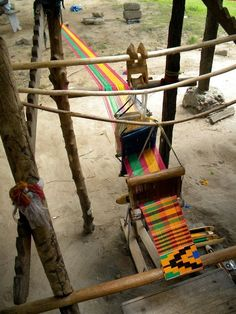 Africa | Kente cloth loom