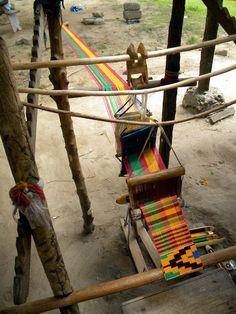 Africa | Kente cloth loom