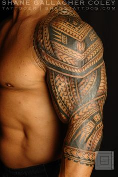 www.tattoosme.com/tattoos-for-men/ tattoos for men, tattoo ideas, tattoos #tattoos #tattoos for men #tattoo ideas #tribal #tattoodesigns Polynesian Tattoos For Men | Polynesian Sleeve