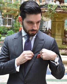 """suitandtiefixation: """"At St. Wearing tie by pocket swiare by and suit by Tags: St James Court, Trending Topics, Suit And Tie, Gentleman Style, Vintage Outfits, Vintage Clothing, Pocket Square, Business Fashion, Suit Jacket"""