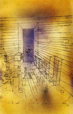 1925 Paul Klee Chambre du revenant a la grande porte, nouvelle version