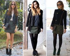 ZARA is the new black: Faldas de estampado camuflaje y barroco en tonos verdes de Zara