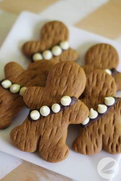 Wookie Cookies - Star Wars inspired gingerbread men! #starwarsparty
