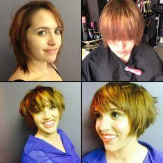 Before and after # Splashlights Redken