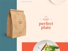 The Perfect Plate - Logo Design designed by Sehban Ali Akbar. Connect with them on Dribbble; Logo Design, Graphic Design Branding, Identity Design, All Design, Catering Logo, Logo Food, Teller, Show And Tell, Logo Inspiration