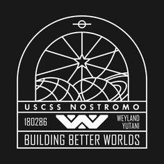 Shop Nostromo Weyland Yutani Ship weyland t-shirts designed by BadBox as well as other weyland merchandise at TeePublic. Modern Logo Design, Design Art, Graphic Design, Nostromo Alien, Aliens Colonial Marines, Marines Logo, Giger Alien, Alien Party, Modern Colonial