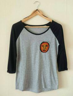 Reglan Sleeve Abstract Shirt