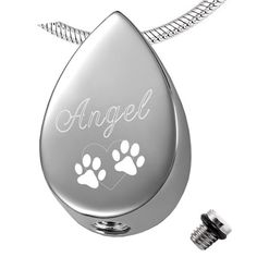 Double Paw Prints Stainless Steel Pet/Dog/Cat Memorial Jewelry Tear drop Shape Urn necklace Cremation pendant for Women Charm Jewelry, Pendant Jewelry, Pendant Necklace, Pet Ashes Jewelry, Dog Shadow Box, Pet Memorial Jewelry, Dog Tags Pet, Keepsake Urns, Pet Urns