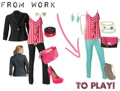 """""""Amour Cami From Work to Play - CAbi Clothing"""" by am-prettyinink on Polyvore"""