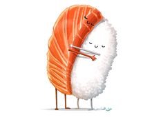 """Sushi Hug"" by andrefmuller on mens t-shirts, pullover hoodys 