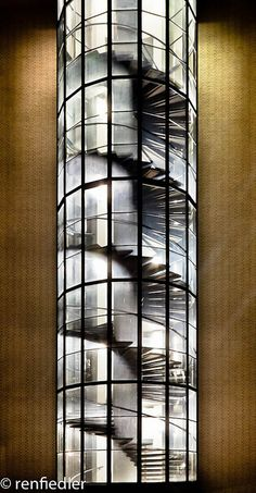 'Night Drilling' - Spiral staircase photo by renfie, via Flickr  (at TU Delft - Delft, The Netherlands)