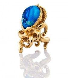 Bernard Delettrex Pyrite Octopus Ring  toyastales.blogspot.com