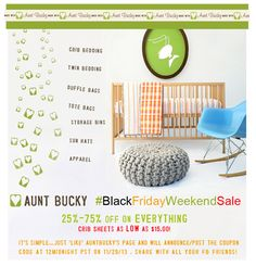 AuntBucky #BlackFridayWeekendSale is almost here! Like AuntBucky FB page and get the coupon now! 25% -75% OFF Sale on ALL items in shop! www.facebook.com/AuntBucky