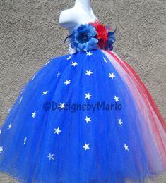 Red white blue tutu dress READY TO SHIP 6 6x 6T 7 8 4th of july tutu pageant dress Pageant tutu Flag tutu dress Patriotic tutu Star tutu