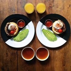 Symmetrical Breakfasts made with Love