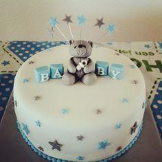 Baby shower cake boy