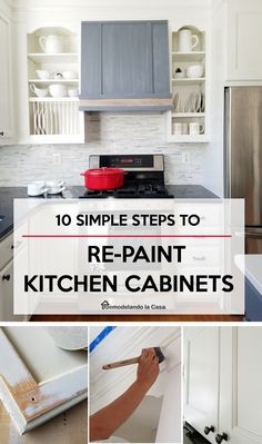 How to Re-paint kitchen cabinets - I need this!